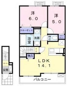 アリエッタ2階Fの間取り画像