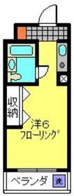 和田町駅 徒歩13分4階Fの間取り画像
