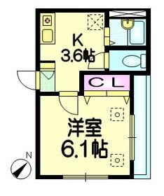 ヘーベルハイム3階Fの間取り画像