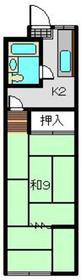 天王町駅 徒歩15分2階Fの間取り画像
