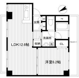 林第一ビル5階Fの間取り画像