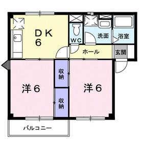 アルエットⅡ1階Fの間取り画像