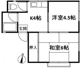 永倉荘2階Fの間取り画像