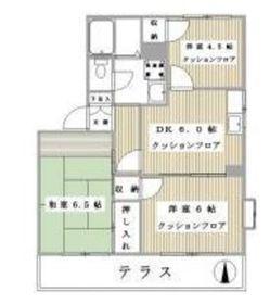 エントピアイワイハラA棟2階Fの間取り画像