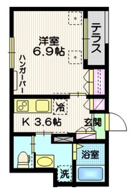 (仮称)千住中居町メゾン1階Fの間取り画像