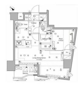 SYFORME KANNAI Ⅱ6階Fの間取り画像