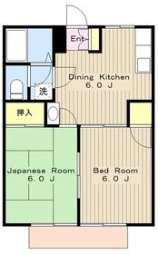本厚木駅 バス12分「下依知入口」徒歩9分2階Fの間取り画像