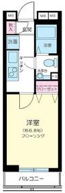 ステージグランデ日本橋4階Fの間取り画像