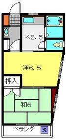 白楽駅 徒歩23分2階Fの間取り画像