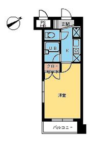 スカイコート新宿新都心1階Fの間取り画像