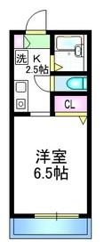 クレール長崎2階Fの間取り画像