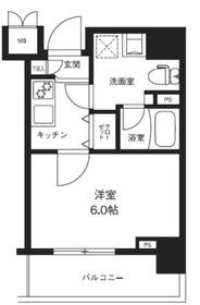 メインステージ横濱ポートサイド7階Fの間取り画像