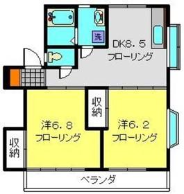 ハイツクレイン2階Fの間取り画像