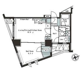 パークアクシス本郷の杜6階Fの間取り画像