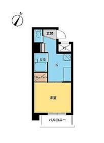 スカイコート神田12階Fの間取り画像
