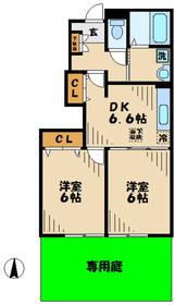 ブルックサイド1階Fの間取り画像