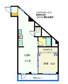 第2吉原ビル4階Fの間取り画像