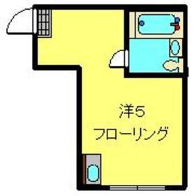 メゾットパイン1階Fの間取り画像
