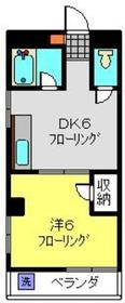 尾高ビル2階Fの間取り画像