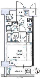 SHOKEN Residence横浜伊勢町2階Fの間取り画像