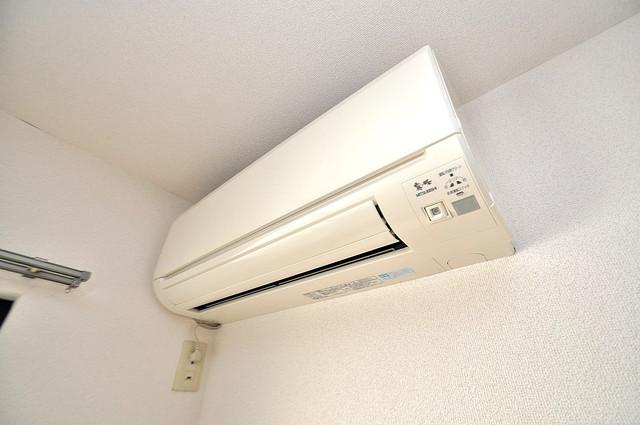エステートピアナカタC棟 エアコンがあるのはうれしいですね。ちょっぴり得した気分。