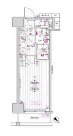 ガーラ新横浜グランドステージ7階Fの間取り画像