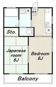 マイコート高幡II1階Fの間取り画像