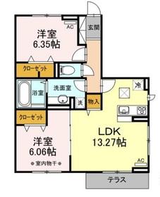 クレストアサヒ1階Fの間取り画像