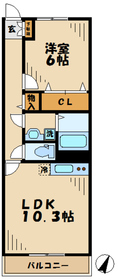 黒川駅 徒歩6分1階Fの間取り画像