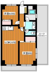 成増駅 徒歩7分5階Fの間取り画像
