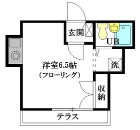 メゾンF1階Fの間取り画像