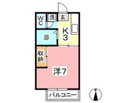 ゆめエリア I2階Fの間取り画像