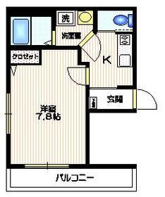RIVERSIDE・新宿1階Fの間取り画像