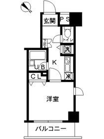 スカイコート富士見台7階Fの間取り画像