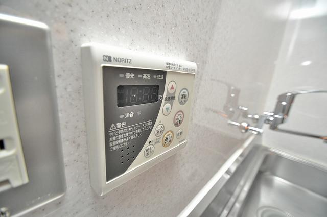カーサ布施Ⅱ 給湯リモコン付。温度調整は指1本、いつでもお好みの温度です。