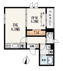 (仮称)上鷺宮3丁目メゾン3階Fの間取り画像