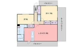 ヴィラージュ大濠7階Fの間取り画像