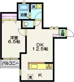 和田塚駅 徒歩3分1階Fの間取り画像