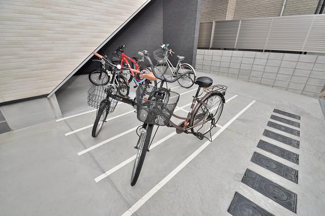 フォレストコート東今里 あなたの大事な自転車も安心してとめることができますね。