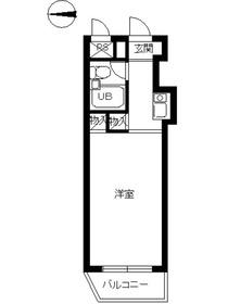 スカイコート宮崎台1階Fの間取り画像