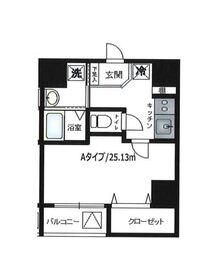 パウロニアバレーテイク8東神奈川10階Fの間取り画像