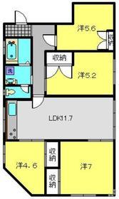 ライフモリ15号館3階Fの間取り画像