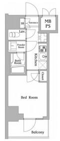 ハーモニーレジデンス川崎#0024階Fの間取り画像