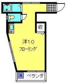 日吉駅 バス13分「下田上町」徒歩2分1階Fの間取り画像