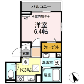 (仮)高松町3丁目レジデンスプロジェクト1階Fの間取り画像