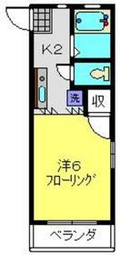 ルミエールK2階Fの間取り画像