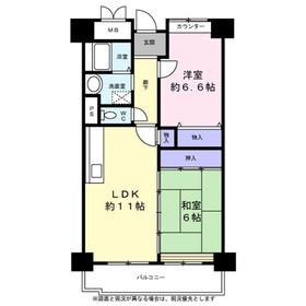 サンシャイン鶴見緑地8階Fの間取り画像