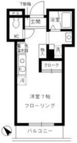 お茶ノ水リバーサイド5階Fの間取り画像