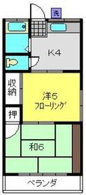 日吉本町駅 徒歩15分2階Fの間取り画像