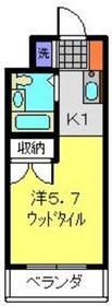 センチュリー日吉4階Fの間取り画像